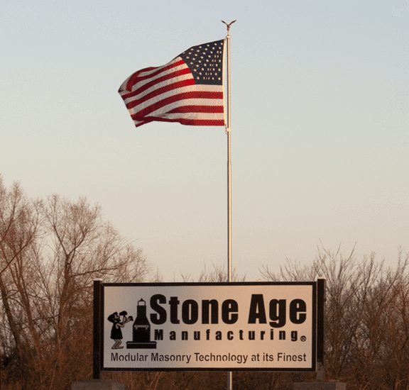 American Flag and Sign