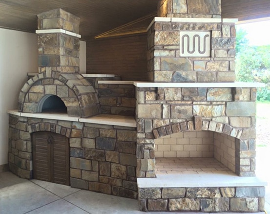 Amerigo Oven with 48 inch Contractor Fireplace