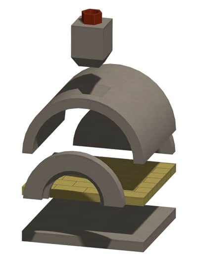 Mezzo™ Pizza Oven Exploded View