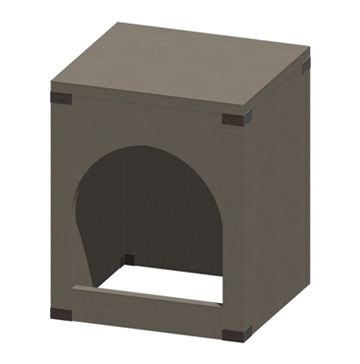 Drawing of Pizza Oven Cabinet With Arched Opening