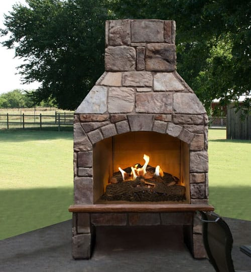 Stoned Fire Fireplace in Natural Stone