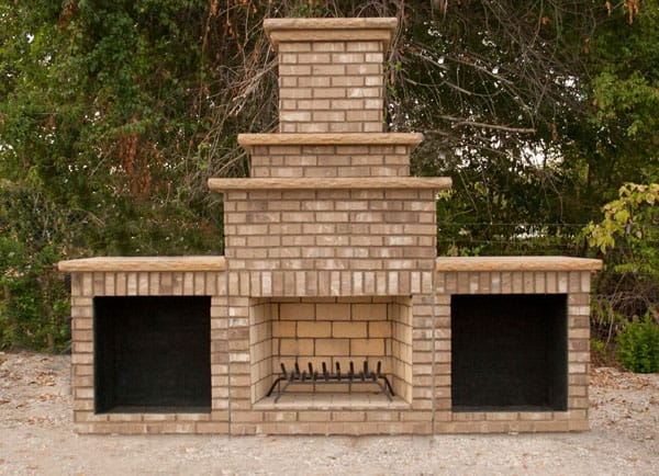 New Age™ Fireplace with Square Wood Storage Boxes